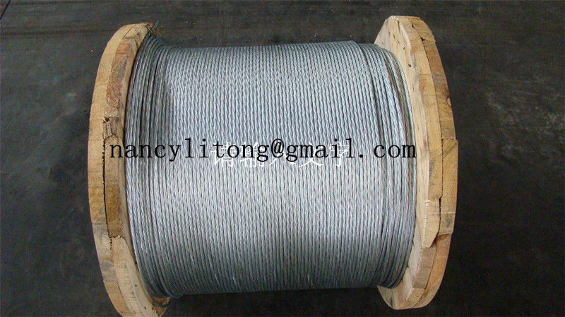 Waterproof Galvanised Steel Wire Cable , 7 Wire Strands High Strength Steel Cable