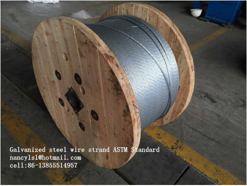 Zinc Coating Steel Wire Cable 7/3.05mm 7/3.45mm With Scratch And Corrosion Resistant Coating